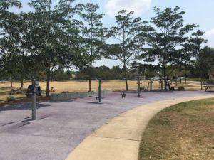 ブリスベン Frew Park 公園の筋トレ施設