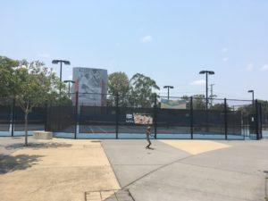ブリスベン Frew Park 公園のテニスコート