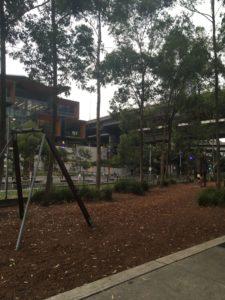 シドニーのTumbalong Parkのターザンロープ