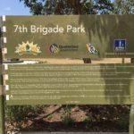 【ブリスベン】7th Brigade Parkの説明看板