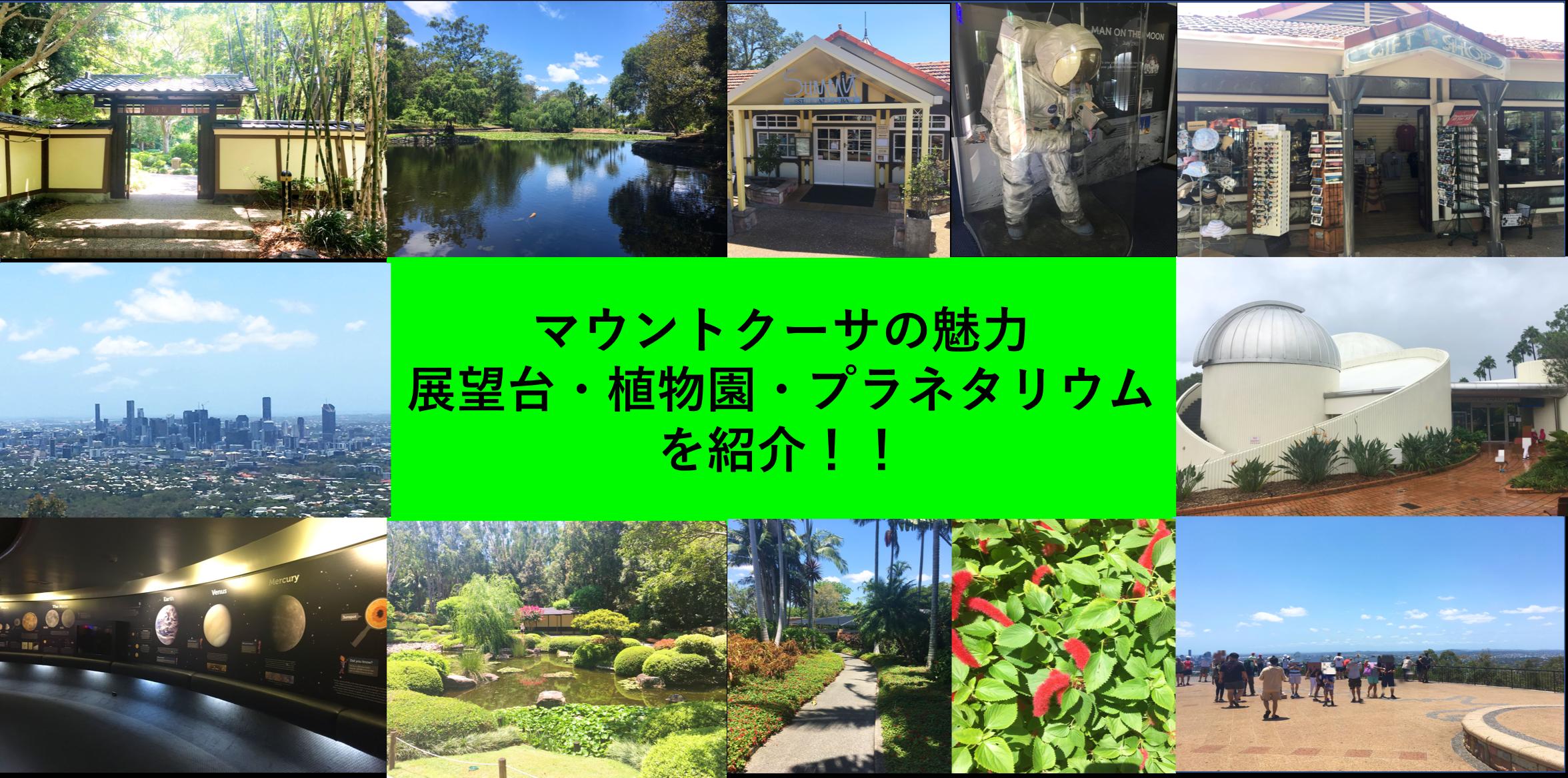 マウントクーサの魅力【展望台・植物園・プラネタリウム】を紹介!!